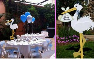 stork lawn sign for baby shower decoration
